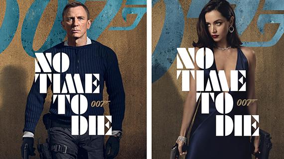 Daniel Craig y Ana de Armas en carteles del nuevo 007