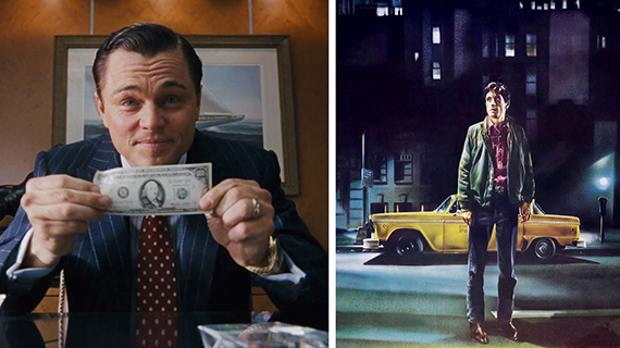 """""""El lobo de Wall Street"""" y """"Taxi Driver"""""""