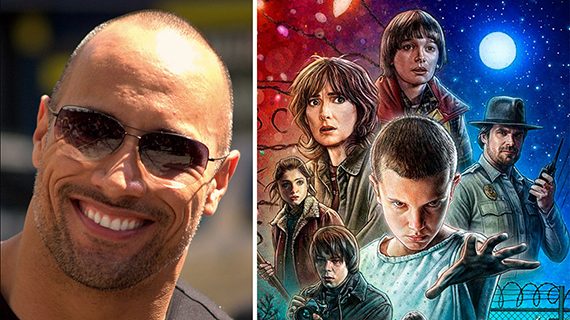 "Dwayne Johnson y ""Stranger Things"""