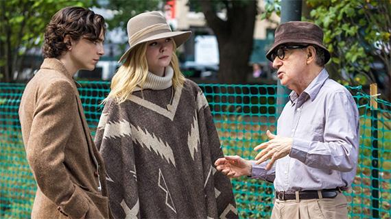 """Allen, en el rodaje de """"Día de Lluvia en Nueva York / A Rainy Day in New York"""""""