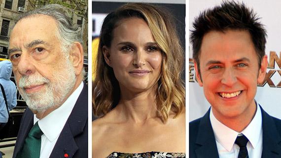 Francis Coppola, Natalie Portman y James Gunn