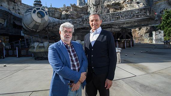 George Lucas y Bob Iger