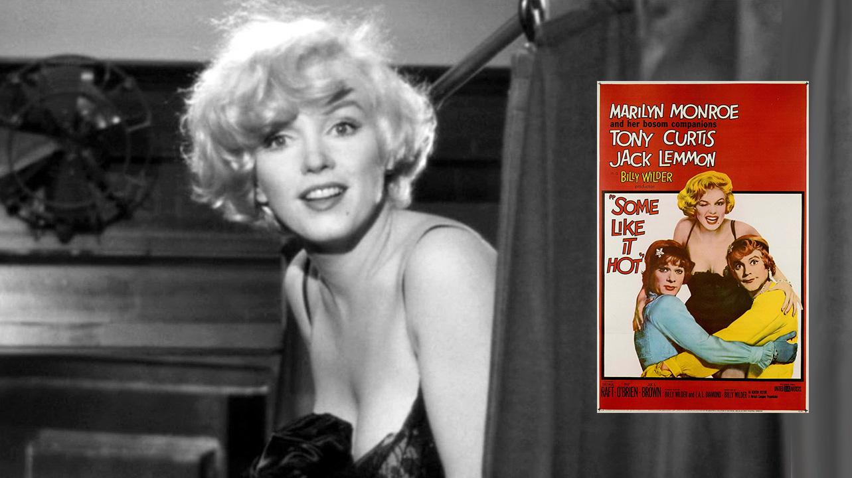 """Marilyn Monroe y """"Con faldas y a lo loco / Una Eva y dos Adanes / Some Like It Hot"""""""