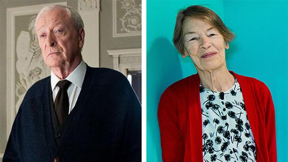 Michael Caine y Glenda Jackson