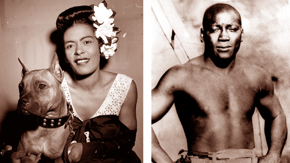 Billie Holiday y Jack Johnson