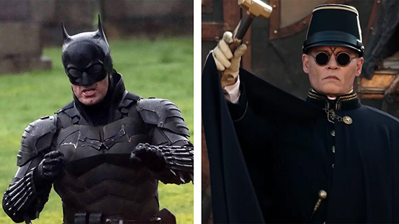 "Robert Pattinson en ""The Batman"" y Johnny Depp en ""Esperando a los bárbaros"""