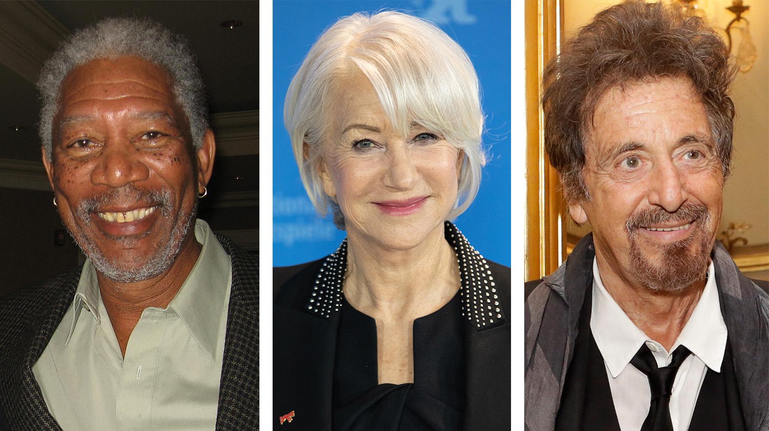 Freeman, Mirren y Pacino